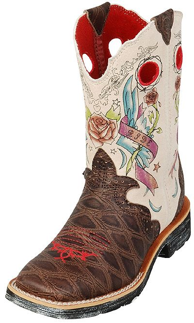 Ariat Youth Showbaby Rocker Kids Boots   http://www.onlinebootstore.com/great-boots/items/A10007987.html