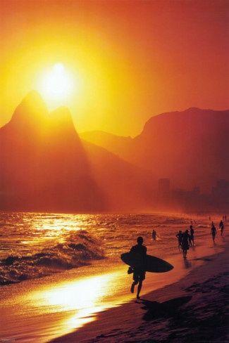 Ipanema Beach Rio De Janeiro Brazil...