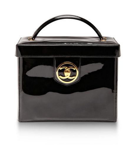Authentic vintage #Chanel black vanity case
