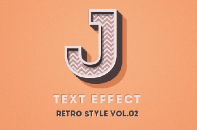 Volume 3 of our retro photoshop text effect with a bold 3d effect. This layer style is made to shine through...
