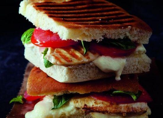 Grilled Chicken Panini Recipe with Tomato and Mozarella - organicauthority.com - Organic Living