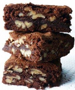 Gezonde brownie met walnoten