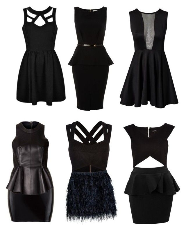 """Little black dress for inverted triangle body shape"" by krely ❤ liked on Polyvore featuring Oneness, Almari, River Island, Cynthia Rowley and 3.1 Phillip Lim"