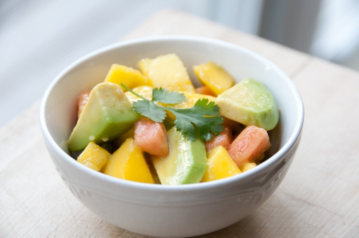Avocado, mango and papaya salad | Photos of food I make :) | Pinterest