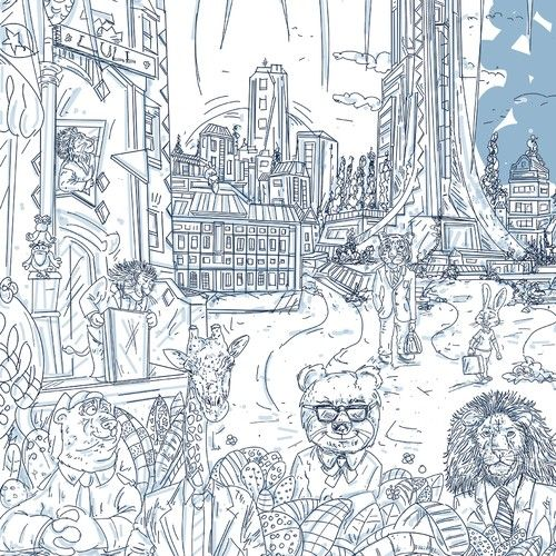 Design di Illustrate an Awesome Urban Jungle onto Our Lull Mattress Box! di lacaramella