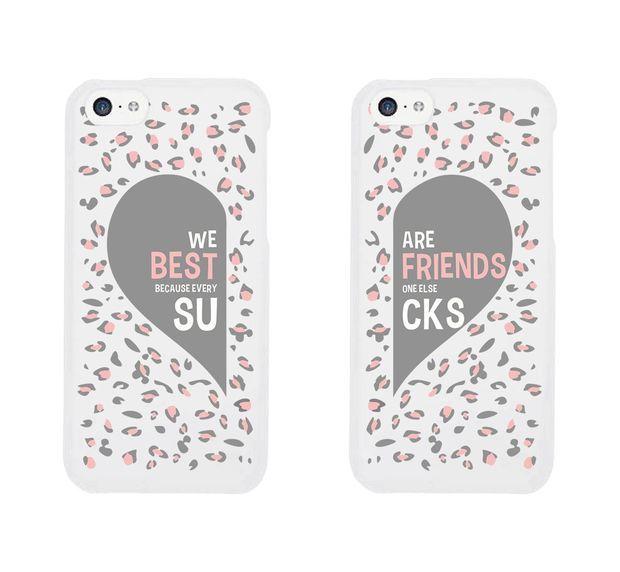 Best Friend Phone Cases - Cute Leopard Print Phone Covers for iphone 4, iphone 5, iphone 5C, iphone 6, iphone 6 plus, Galaxy S3, Galaxy S4, Galaxy S5, HTC M8, LG G3