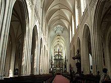Cathédrale Notre-Dame d'Anvers  - Vue de la nef centrale de la cathédrale