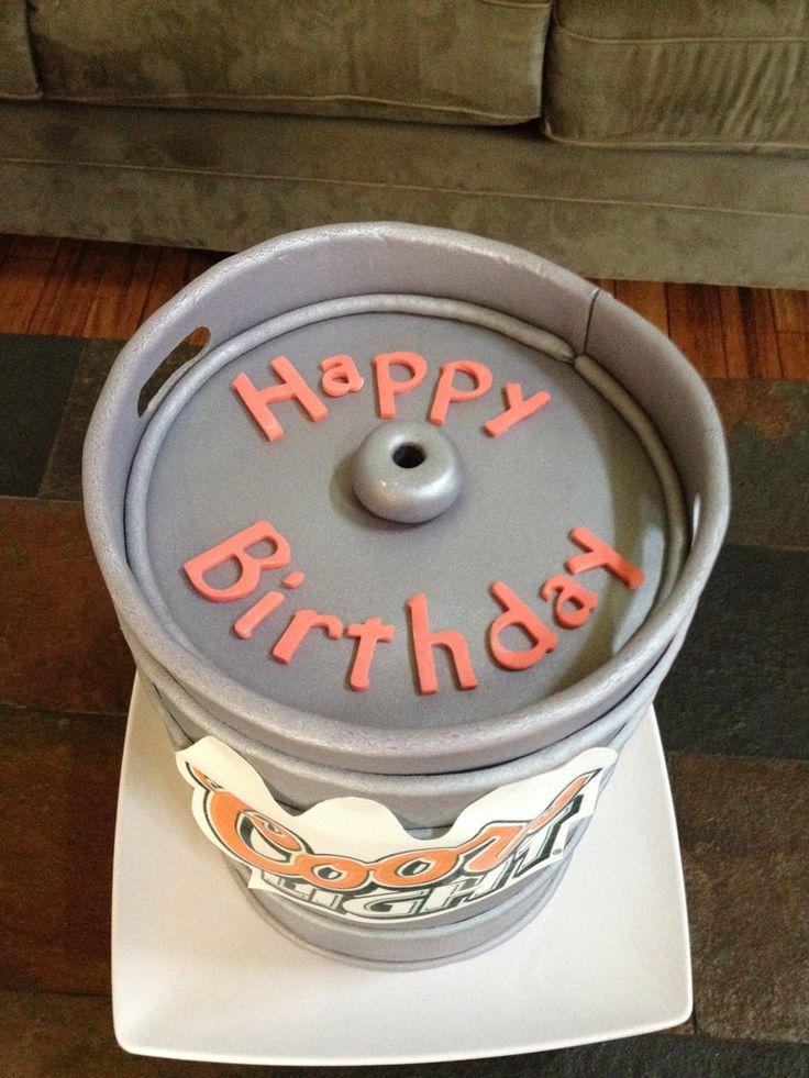 19 Best Beer Keg Cake Images On Pinterest Beer Keg