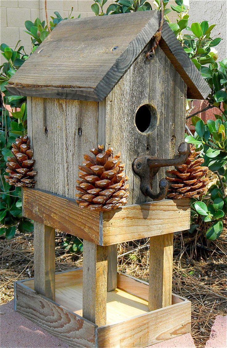 Birdhouse Rustic Bird Feeder 276. $24.95, via Etsy.