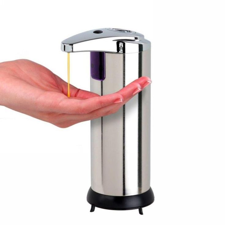 1389 aud touchless soap dispenser stainless steel body