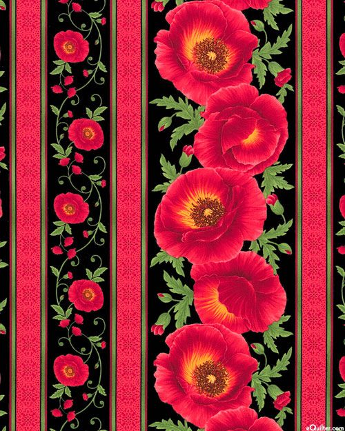 Poppy Grove - Red Carpet Stripe - Quilt Fabrics from www.eQuilter.com