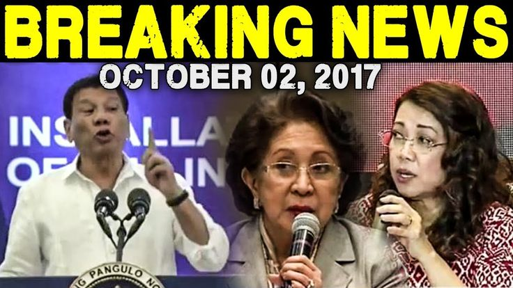 BREAKING NEWS TODAY OCTOBER 02, 2017 - PRES. DUTERTE l OMBUDSMAN MORALES...