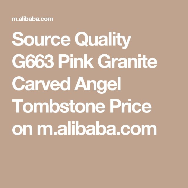 Source Quality G663 Pink Granite Carved Angel Tombstone Price on m.alibaba.com
