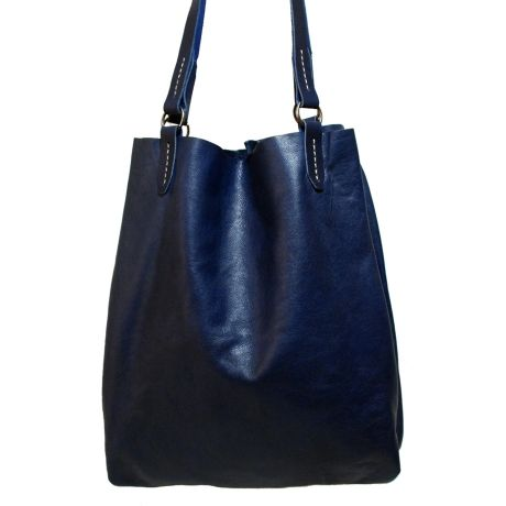 Red Oker Elegant Tote – Navy Blue from The Love of Leather - R699 (Save 24%)