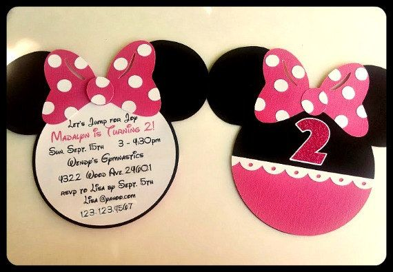 Minnie Mouse Invitations. by LilysPaperParty on Etsy
