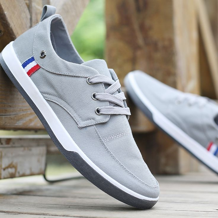 17.98$  Watch now - http://ali0w5.shopchina.info/go.php?t=32801189772 - New Fashion 2017 Breathable Canvas Mens Shoes Lace-Up Solid Flats Spring Autumn Outdoor Casual Denim Canvas Shoes For Men  #magazine
