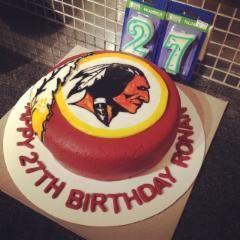#Redskins birthday cake