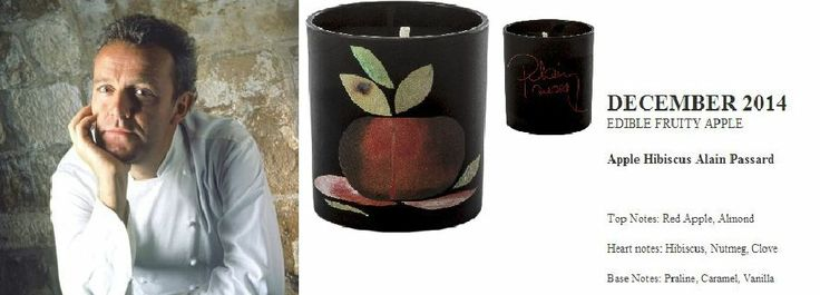 Alain Passard for Quintessence Paris  2014 Calendar Collection . Apple Hibiscus (EDIBLE FRUITY APPLE) 140g Candle  http://french-studio-imports.myshopify.com/ #FSI