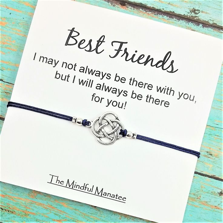 Best Friend Bracelet | Long Distance Friend | Friendship Bracelet | There for You Card| BFF Bracelet | Best Friend Gift – Bestie Gifts