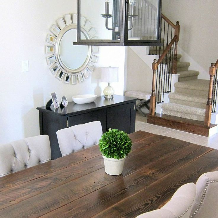 This is so beautiful!! Our Dining Room Table We Made From Reclaimed Wood