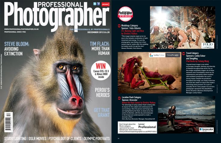 Finalist Photos Published in British Professional Photographer Magazine.