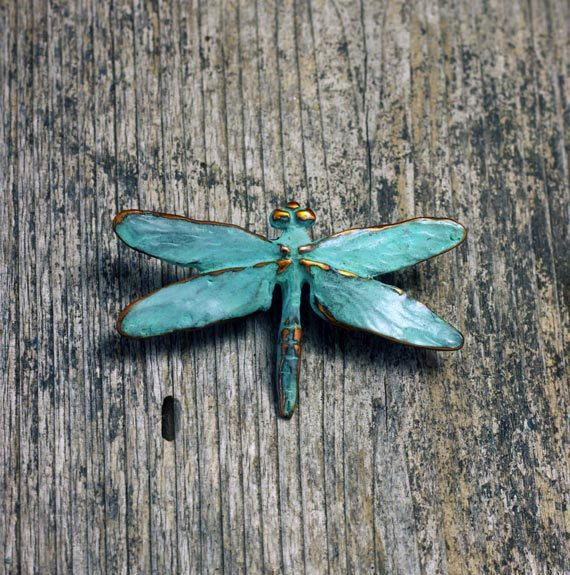 Dragonfly Brooch, cast in copper with a blue green patina. Handcrafted in our forest studio on the beautiful Sunshine Coast, B.C. Inspired by the nature that surrounds us.