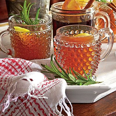 Hot Bourbon-Orange Tea Toddy | This warm reviver can be served before or after dinner.