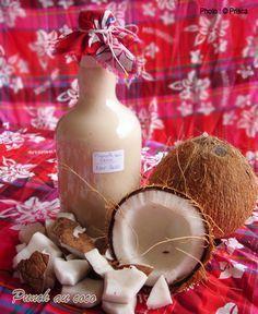Punch-coco 500ml de lait de coco 100% de qualité 1 l de rhum blanc AOC Martinique 1 à 2 boîtes (395g) de lait concentré sucré 2 pincées de cannelle moulue 1 pincée de muscade 1 gousse de vanille Sirop de canne à sucre