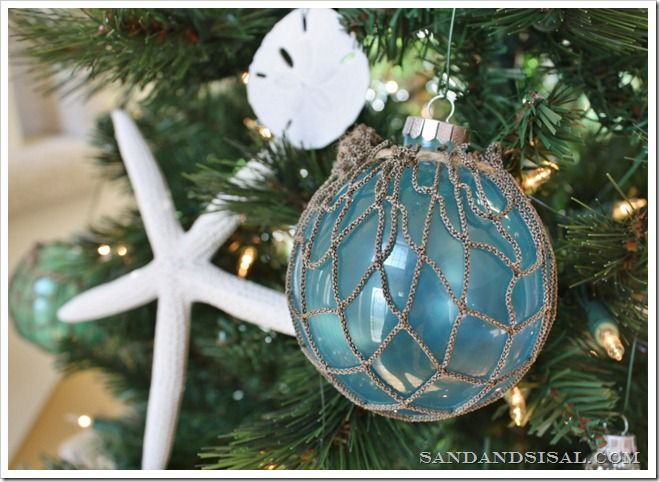142 best Beach Themed Christmas images on Pinterest Coastal - beach themed christmas decorations