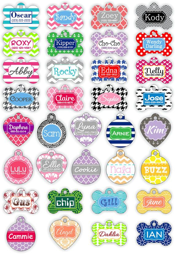Double-Sided Personalized Pet Tag Personalized Dog by clippycabin