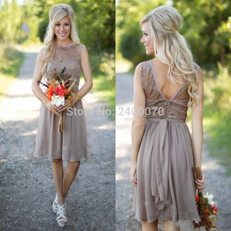 Find More Bridesmaid Dresses Information about Cheap Country Bridesmaids Dresses Short Lace Bodice Chiffon Skirt Sheer Bateau Sleeveless Bridesmaid Gown for Weddings Custom,High Quality gowns for big women,China skirt dress Suppliers, Cheap skirt wholesale from Shop2400070 Store on Aliexpress.com
