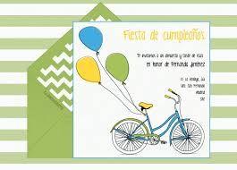 Resultado de imagen de hacer tarjetas cumpleaños niña bicicleta