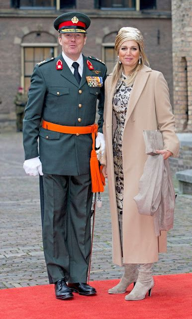 Queen Maxima attend the ceremony of the Military Willems-Orde to Majoor Gijs Tuinman