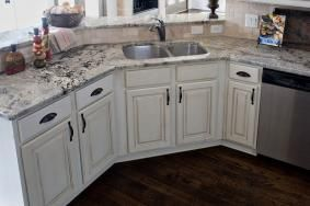 32 best countertops images on pinterest countertops for Brushed sage kitchen cabinets