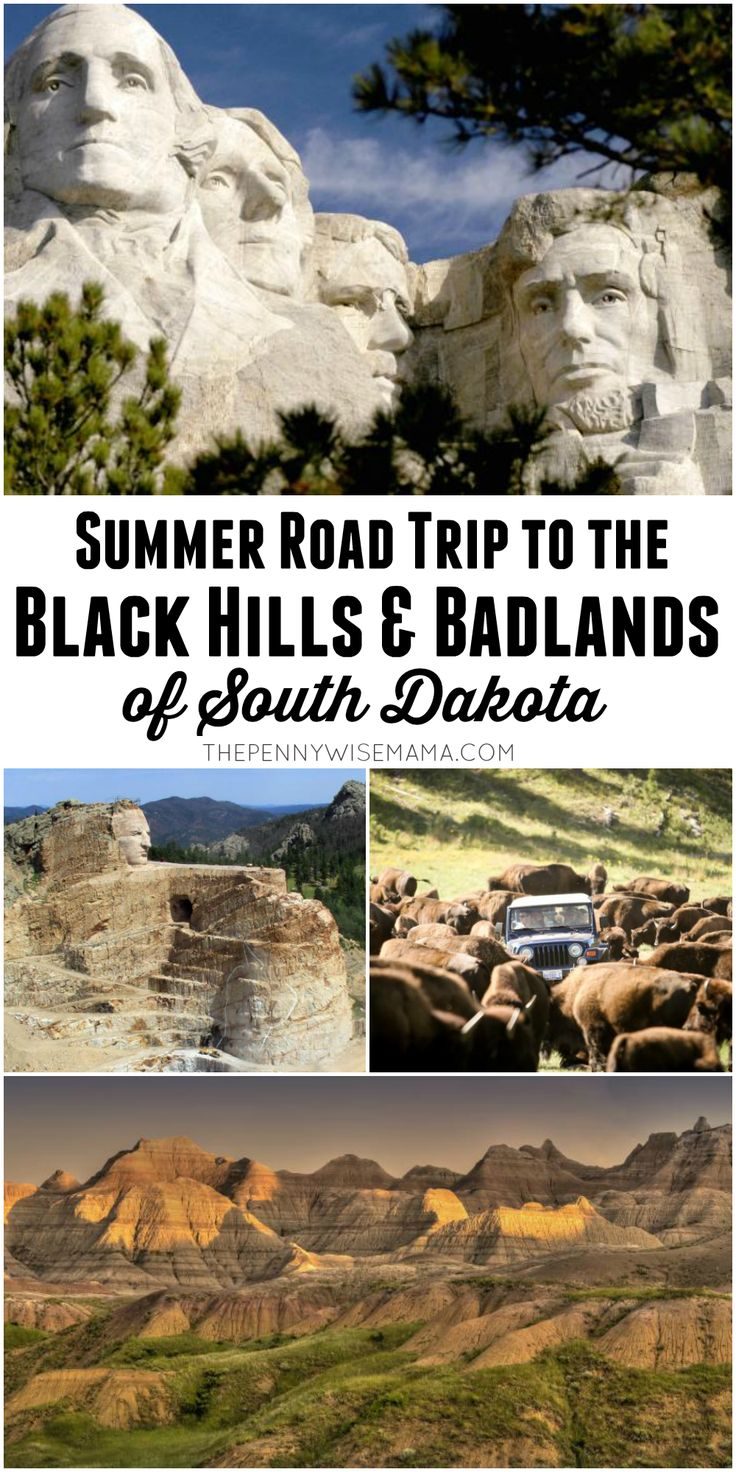 Plan a fun outdoor summer vacation to the Black Hills & Badlands of South Dakota! #BlackHillsBadlands #ad