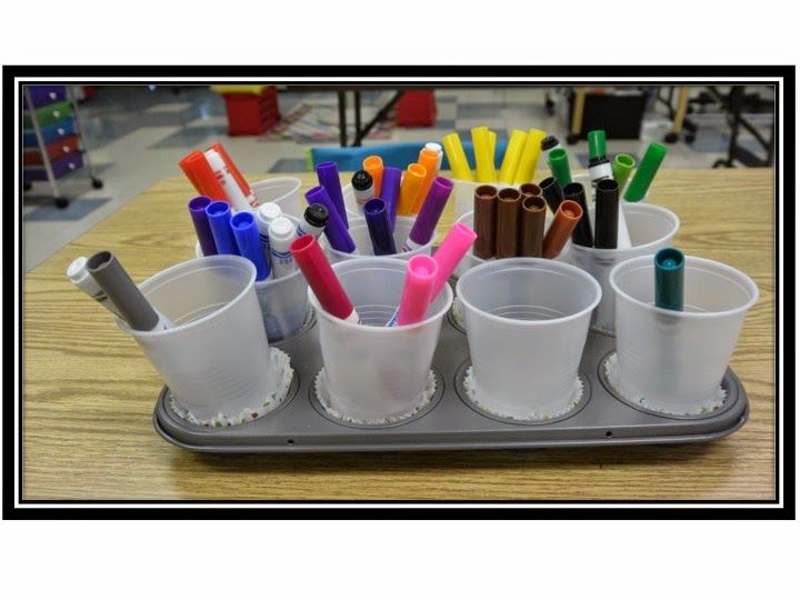 Love Those Kinders!: Organizing Crayons and Markers AND No More Clogging Glue Bottles!