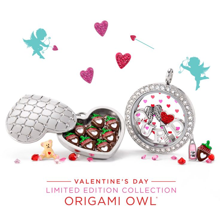 Origami Owl. Why give someone a gift that doesn't last? Give a meaningful one this Valentine's Day with our limited-edition Charms and customizable jewelry. I'm in love with the Chocolate-Covered Strawberry Charms in our new Locket. Which is your favorite? http://ltl.is/8NLQI