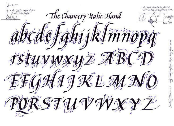 Calligraphy Practice Sheets | calligraphy alphabet guide