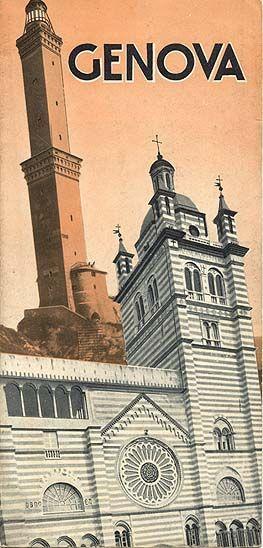 """Genova,"" 1934 Liguria, Italy. Vintage travel city poster - www.varaldocosmetica.it"
