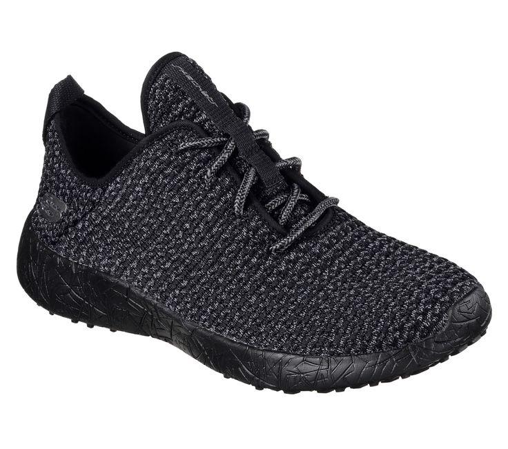 2017 Hip Skechers Burst City Scene Memory Foam Sneaker BlackCharcoal