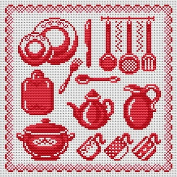 Time To Eat! This pattern is from a site that has really easy to download embroidery patterns for free. It's http://cross-stitchers-club.com/?code_avantage=uucqid. Plus, if you click on this link, you'll automatically receive a gift when you subscribe. I use this site all the time; there are hundreds of all different types of patterns, and there are new patterns added everyday. It's really worth a look.
