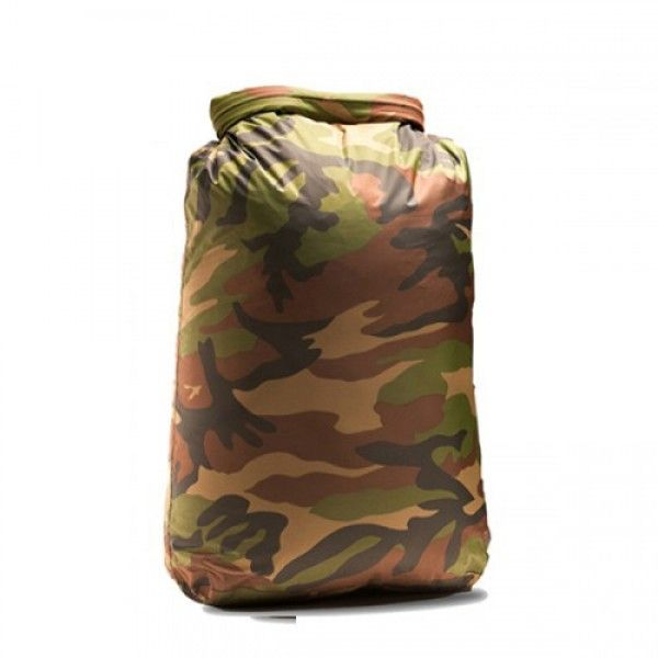 Camo The Perfect Addition to Any Outdoorsman's Kit. Durable & Abrasion-Resistant 70-D Nylon Fabric is Coated with TPU for Total Impermeability. Using a Classic 'Roll-Top' Closure, These Simple to Sue Dry Bags are Perfect for Any Adventure, and Also Make Excellent Liners for Any Non-Waterproof Bags.100% Waterproof & Extremely Light Weight. Durable TPU Coated RipStop Nylon Construction for Exceptional Resistance to Abrasion & Puncture. Heat Taped Seam Construction.
