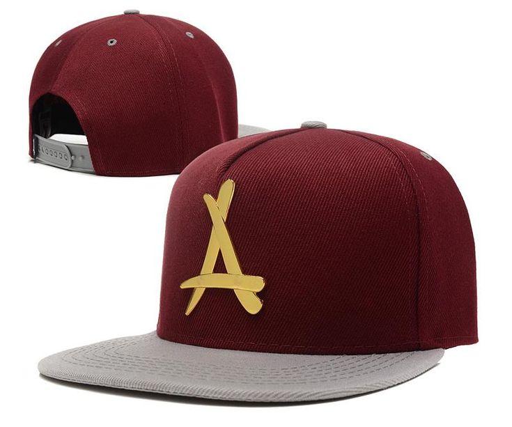 Men's Tha Alumni 24K Gold Metallic A Logo Snapback Hat - Black / Floral