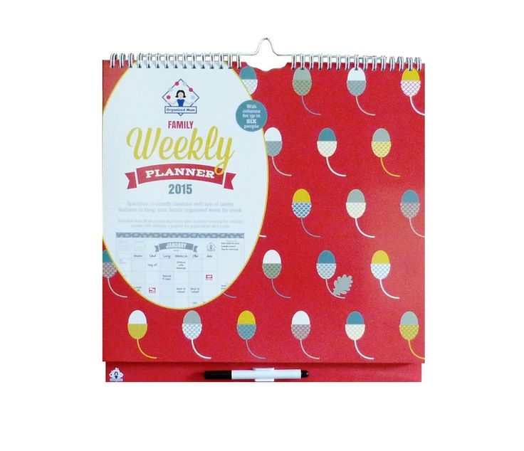 2015 Organised Mum Family Weekly Planner Calendar: Boxhouse Publishing Ltd: Amazon.co.uk: Office Products