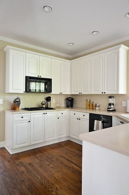 Painted kitchen cabinets before and after paint colors for Dove white cabinets with cocoa glaze