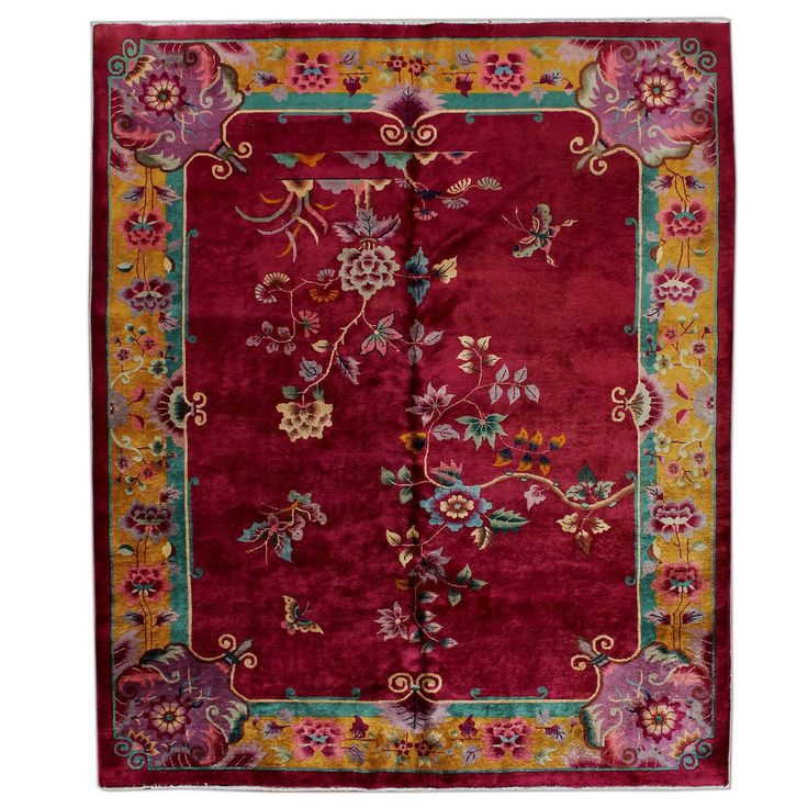 Chinese Art Deco Carpet | From a unique collection of antique and modern chinese and east asian rugs at https://www.1stdibs.com/furniture/rugs-carpets/chinese-rugs/