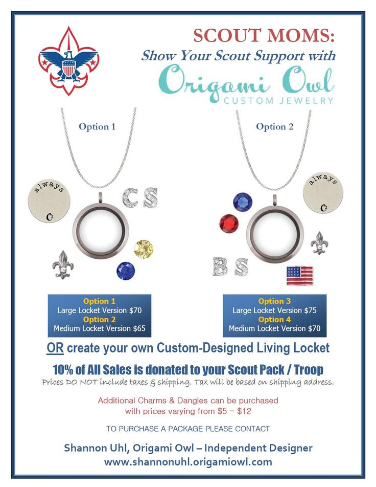 Cub Scout / Boy Scout Fundraiser's Origami Owl with Taylor Dorez http://taylordorez.origamiowl.com Join my team! Designer ID: #9255211