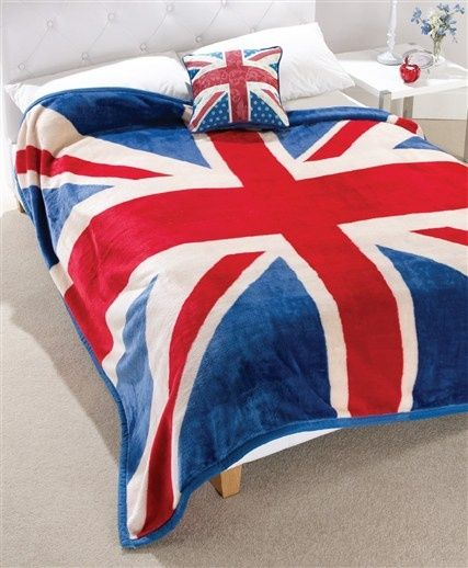 Union Jack Cushion, Union Jack Fleece we-love-the-union-jack