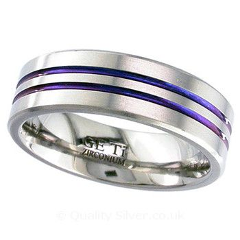 Geti Anodised Zirconium Ring