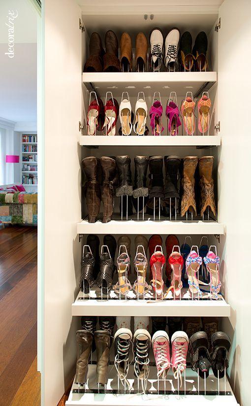 Las 25 mejores ideas sobre organizar zapatos en pinterest for Armario para zapatos